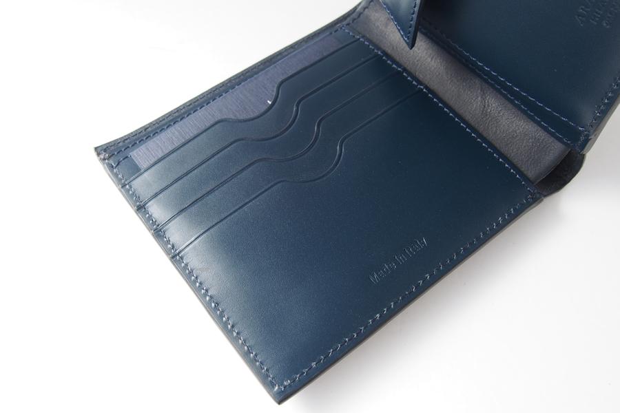 アラルディ|ARALDI 1930|キャビアレザー小銭入れ付き二つ折財布|ウォレット|NERO|ブラック|P351イメージ08