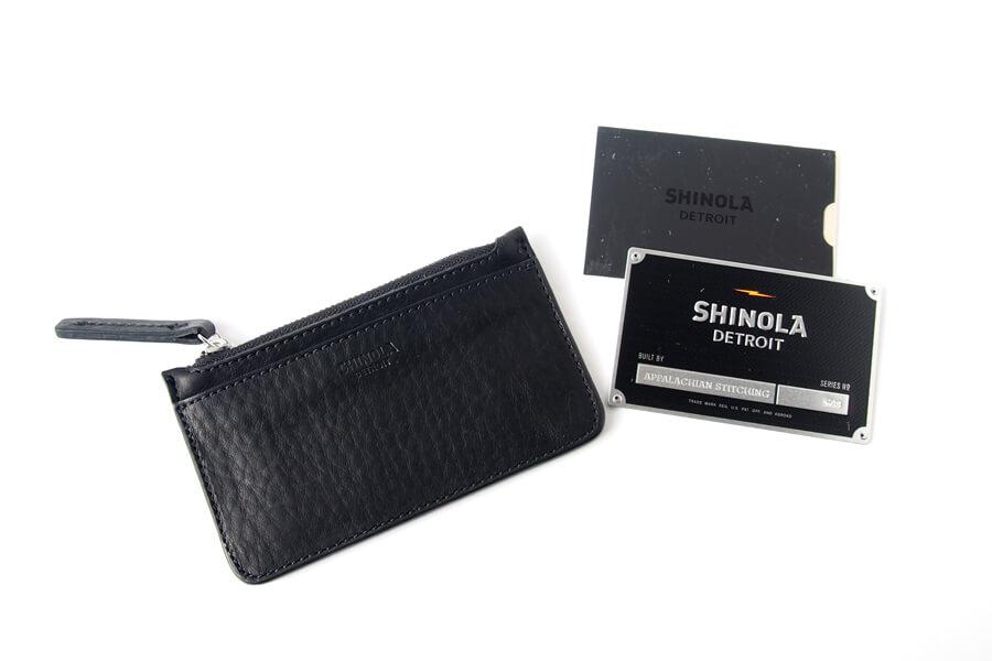 シャイノラ|shinola|レザーコインポーチ|ブラックイメージ09
