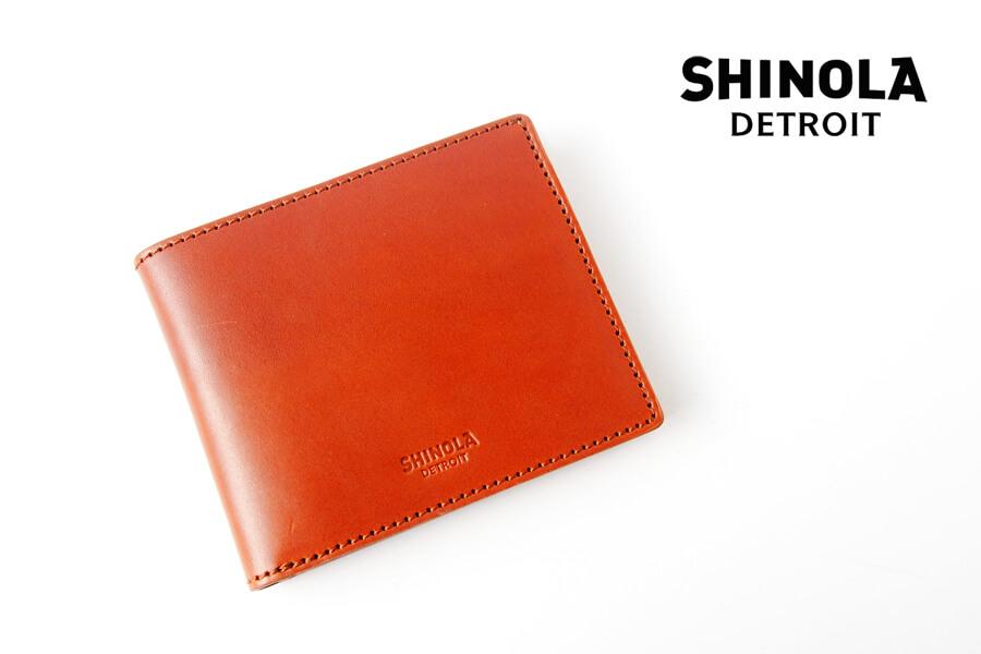 シャイノラ|shinola|レザーコインポーチ|ブラウンイメージ01