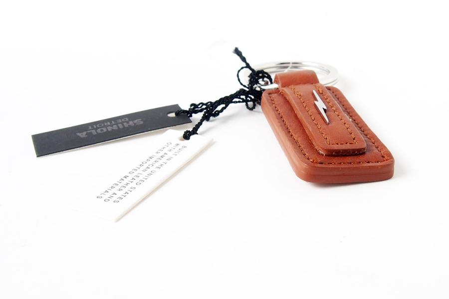 シャイノラ|shinola|キーリング|Metal Lightning Bolt Tan Leather Keychain|ライトブラウンイメージ03