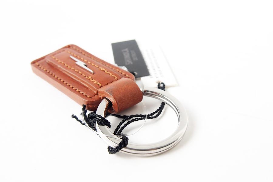 シャイノラ|shinola|キーリング|Metal Lightning Bolt Tan Leather Keychain|ライトブラウンイメージ05