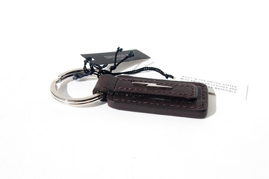 シャイノラ|shinola|キーリング|Metal Lightning Bolt Leather Keychain|ダークブラウンイメージ02