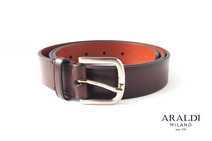 アラルディ ARALDI 1930 レザーベルト 95 ブラウンイメージ01