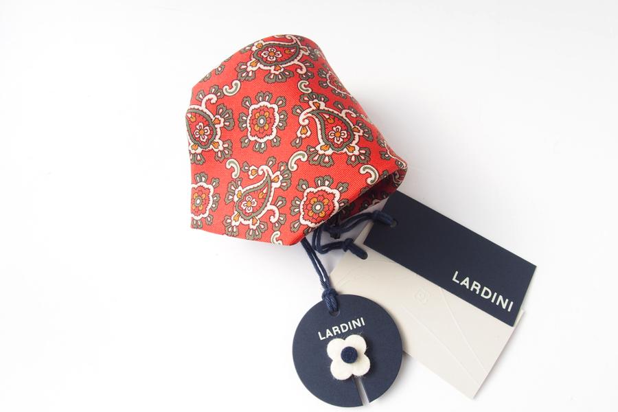 ラルディーニ|LARDINI|シルクペイズリープリントネクタイ|レッドイメージ08