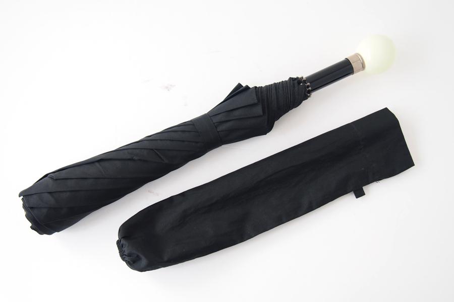 【中古】チャーチ|Church's|フォックスアンブレラ製折りたたみ傘|ブラックイメージ02