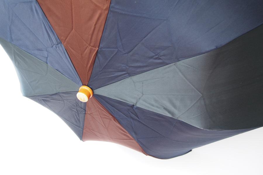 【中古】マリア・フランチェスコ Maglia Francesco マルチストライプ アンブレラ 折りたたみ傘 ネイビー×ブラウン×グリーンイメージ03