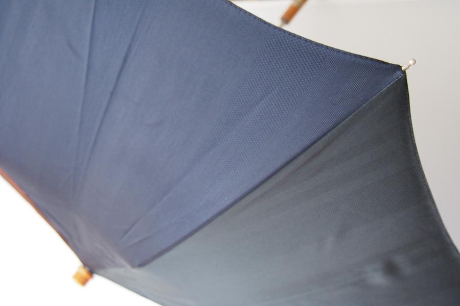 【中古】マリア・フランチェスコ Maglia Francesco マルチストライプ アンブレラ 折りたたみ傘 ネイビー×ブラウン×グリーンイメージ04