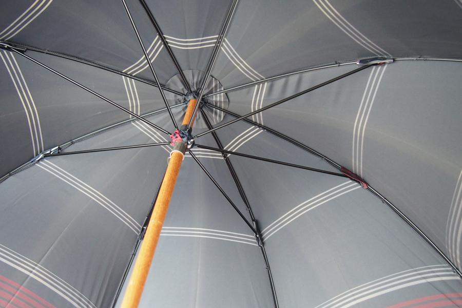 マリア・フランチェスコ|Maglia Francesco|ハンドメイドアンブレラ|長傘|ネイビー×レッド×ホワイトイメージ010