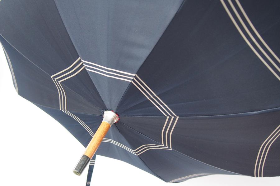 マリア・フランチェスコ|Maglia Francesco|ハンドメイドアンブレラ|長傘|ネイビー×レッド×ホワイトイメージ08