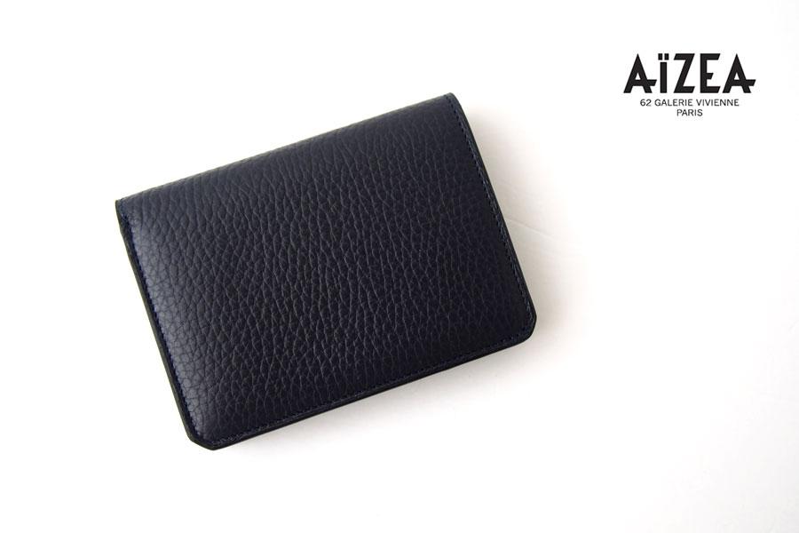 アイセア|AIZEA|コンパクトウォレット|2つ折り財布|トリヨンレザー|ネイビーイメージ01