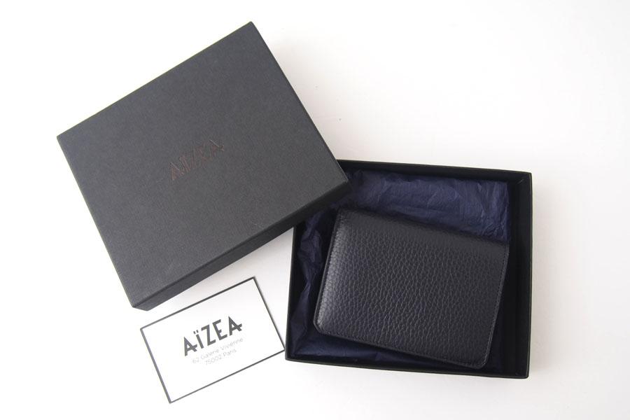 アイセア|AIZEA|コンパクトウォレット|2つ折り財布|トリヨンレザー|ネイビーイメージ010