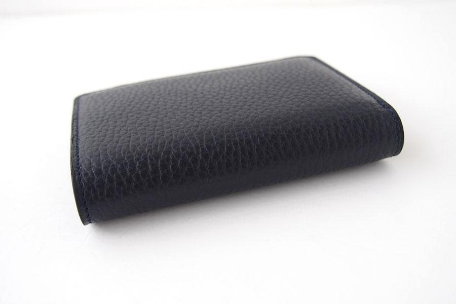 アイセア|AIZEA|コンパクトウォレット|2つ折り財布|トリヨンレザー|ネイビーイメージ05