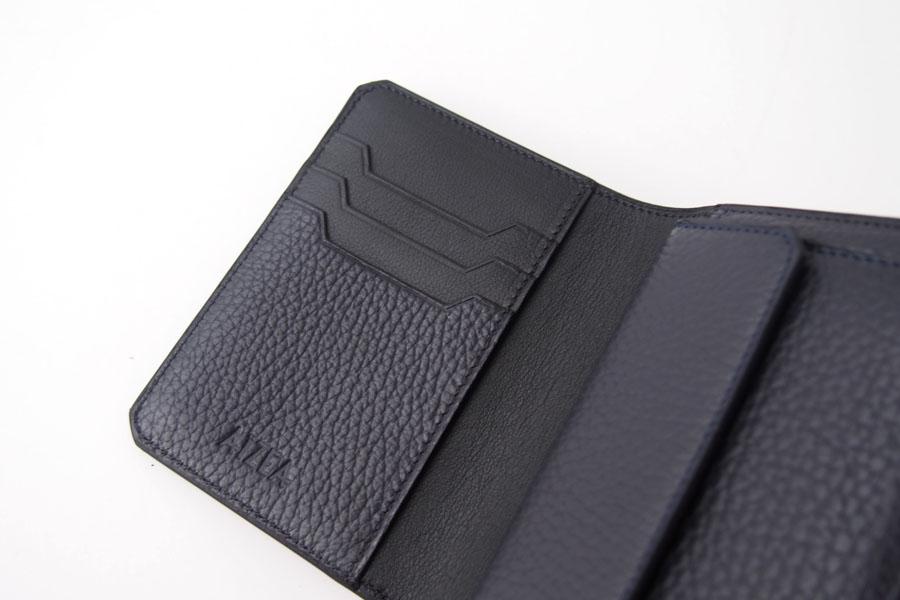 アイセア|AIZEA|コンパクトウォレット|2つ折り財布|トリヨンレザー|ネイビーイメージ08