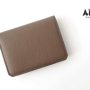 アイセア AIZEA コンパクトウォレット 2つ折り財布 トリヨンレザー トープイメージ01