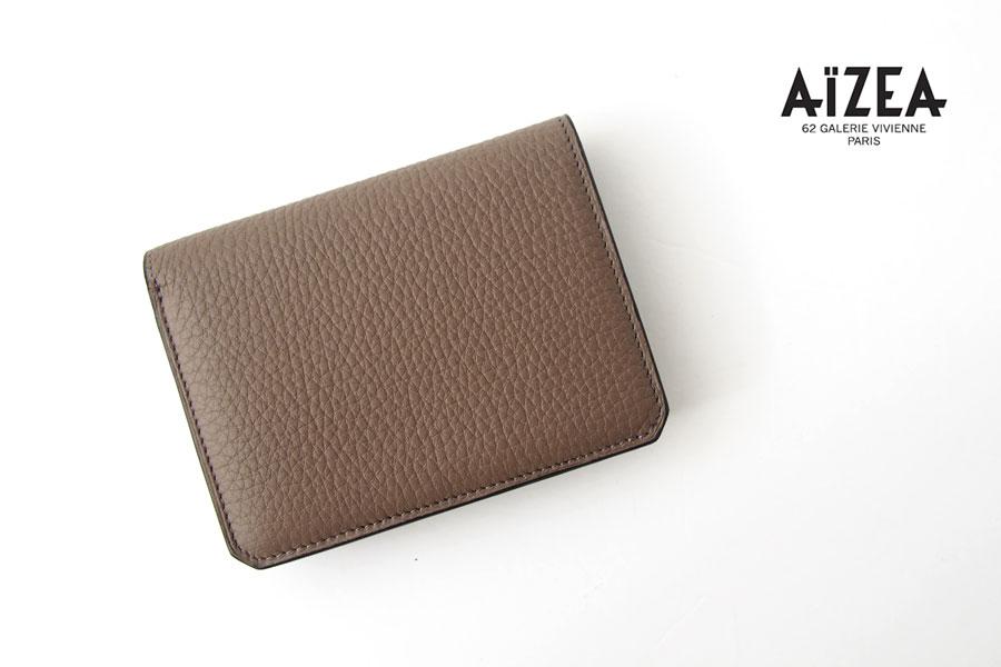 アイセア|AIZEA|コンパクトウォレット|2つ折り財布|トリヨンレザー|トープイメージ01