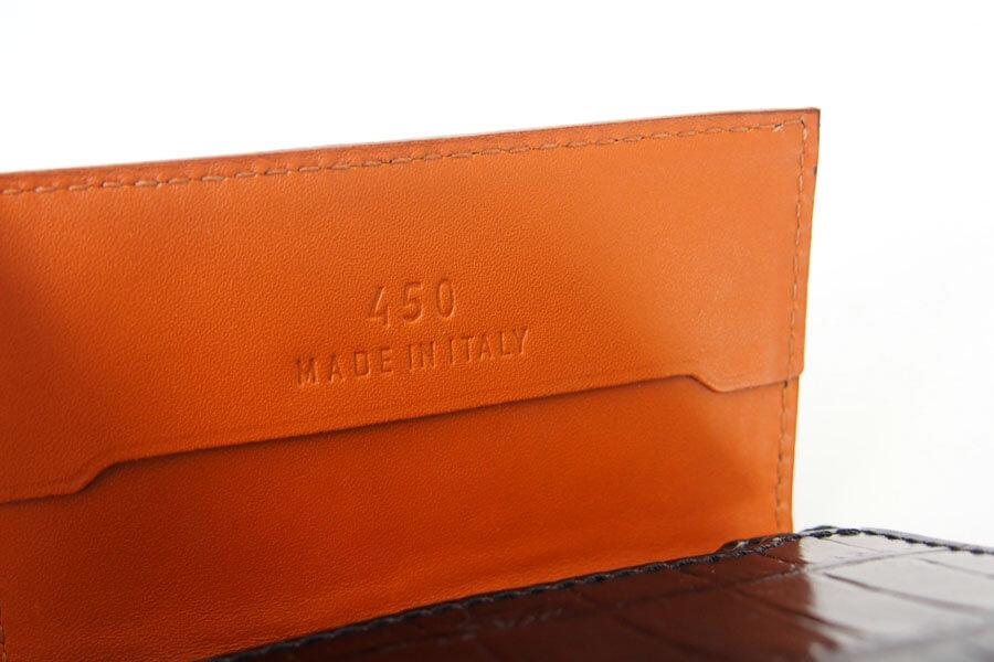 フェリージ|Felisi|クロコ型押しエンボスレザー|カードケース|名刺入れ|450/SA|ブラックイメージ010