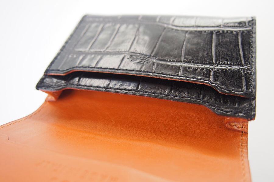 フェリージ|Felisi|クロコ型押しエンボスレザー|カードケース|名刺入れ|450/SA|ブラックイメージ011