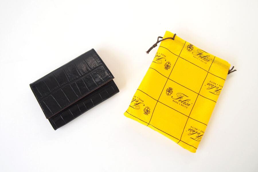 フェリージ|Felisi|クロコ型押しエンボスレザー|カードケース|名刺入れ|450/SA|ブラックイメージ012