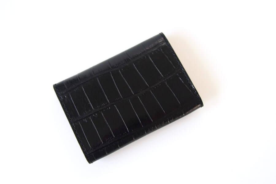 フェリージ|Felisi|クロコ型押しエンボスレザー|カードケース|名刺入れ|450/SA|ブラックイメージ02