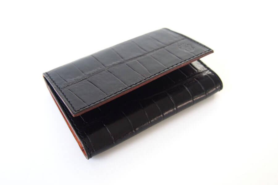 フェリージ|Felisi|クロコ型押しエンボスレザー|カードケース|名刺入れ|450/SA|ブラックイメージ04