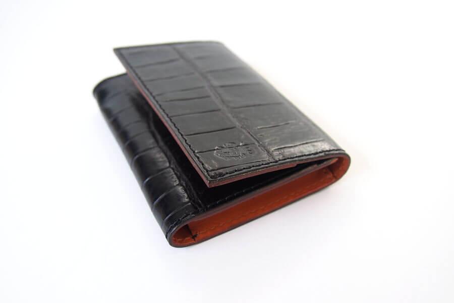 フェリージ|Felisi|クロコ型押しエンボスレザー|カードケース|名刺入れ|450/SA|ブラックイメージ05