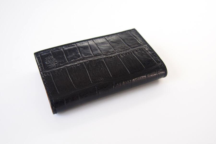 フェリージ|Felisi|クロコ型押しエンボスレザー|カードケース|名刺入れ|450/SA|ブラックイメージ06