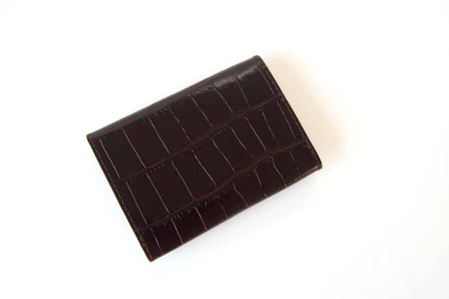 フェリージ|Felisi|クロコ型押しエンボスレザー|カードケース|名刺入れ|450/SA|ブラウンイメージ02