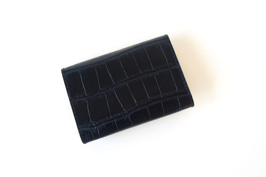 フェリージ|Felisi|クロコ型押しエンボスレザー|カードケース|名刺入れ|450/SA|ネイビーイメージ02