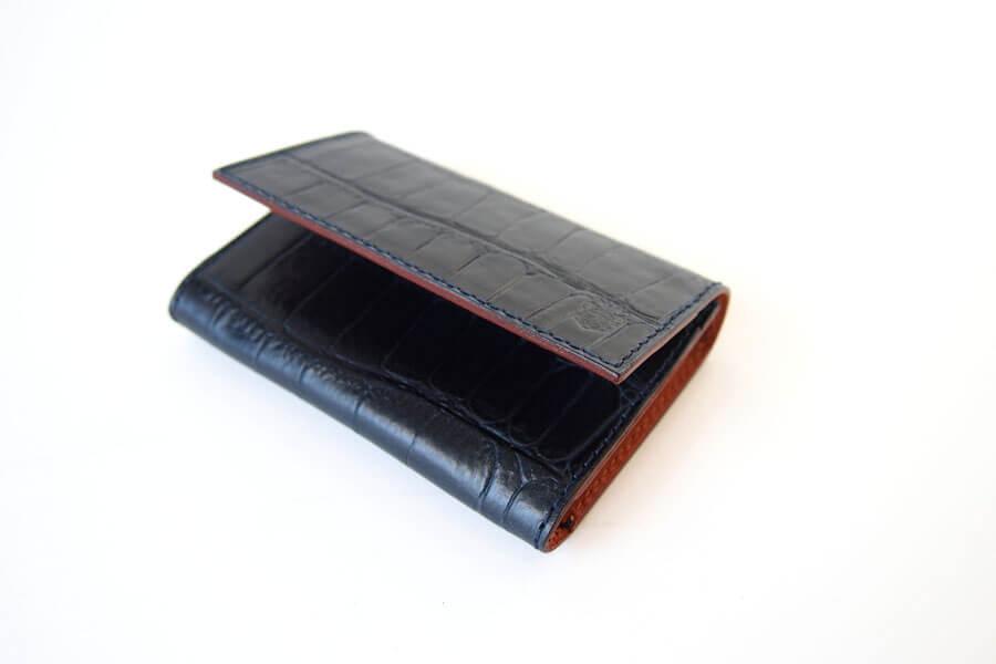 フェリージ|Felisi|クロコ型押しエンボスレザー|カードケース|名刺入れ|450/SA|ネイビーイメージ03