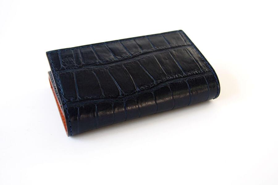 フェリージ|Felisi|クロコ型押しエンボスレザー|カードケース|名刺入れ|450/SA|ネイビーイメージ04