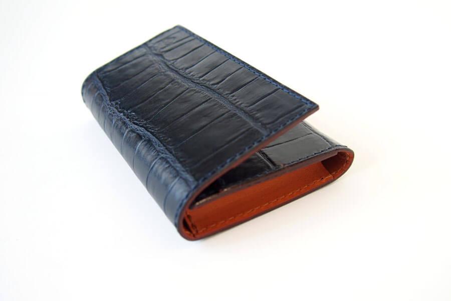 フェリージ|Felisi|クロコ型押しエンボスレザー|カードケース|名刺入れ|450/SA|ネイビーイメージ05