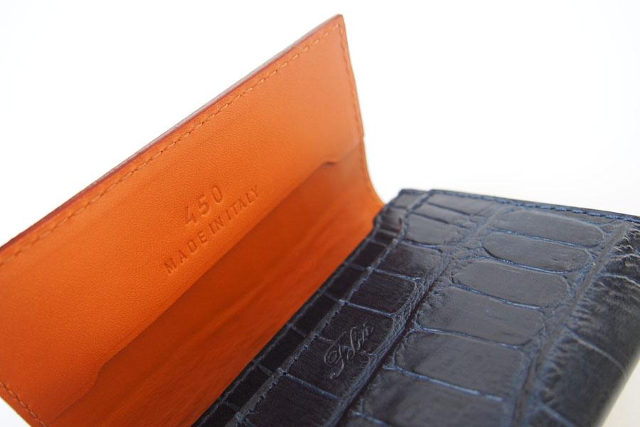 フェリージ|Felisi|クロコ型押しエンボスレザー|カードケース|名刺入れ|450/SA|ネイビーイメージ06