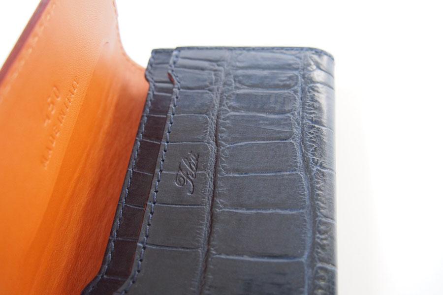 フェリージ|Felisi|クロコ型押しエンボスレザー|カードケース|名刺入れ|450/SA|ネイビーイメージ07