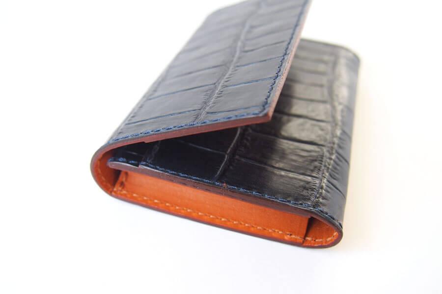 フェリージ|Felisi|クロコ型押しエンボスレザー|カードケース|名刺入れ|450/SA|ネイビーイメージ08