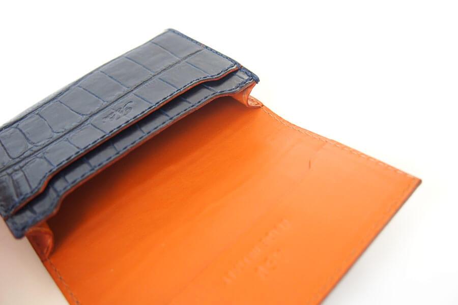 フェリージ|Felisi|クロコ型押しエンボスレザー|カードケース|名刺入れ|450/SA|ネイビーイメージ09