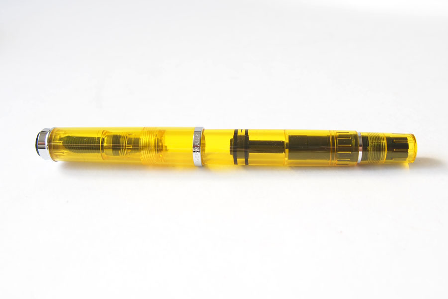ペリカン|Pelikan|M205 DUO イエローデモンストレーター|万年筆 ペン先BB |シャイニーイエロー専用インク30ml セットイメージ07