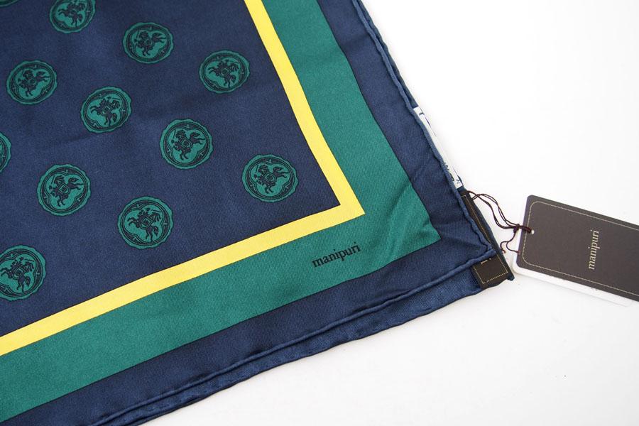 マニプリ|manipuri|プリントシルクスカーフ|グリーン|53cm×53cmイメージ03
