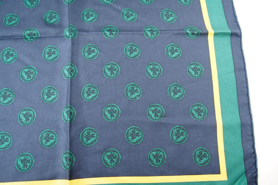 マニプリ|manipuri|プリントシルクスカーフ|グリーン|53cm×53cmイメージ05