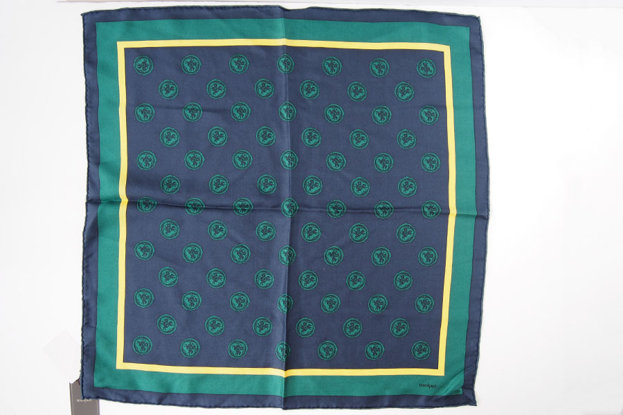マニプリ|manipuri|プリントシルクスカーフ|グリーン|53cm×53cmイメージ06