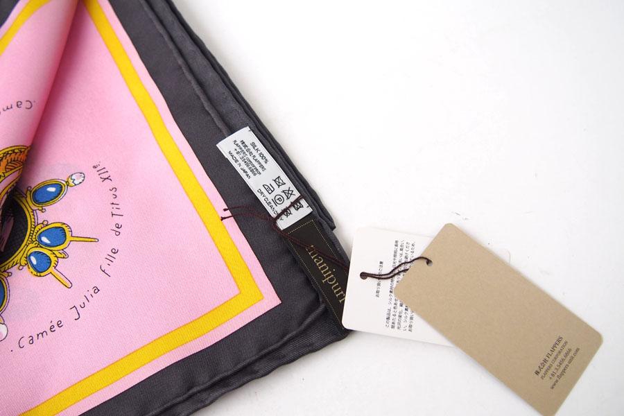 マニプリ|manipuri|プリントシルクスカーフ|BIJOUX|ピンク|88cm×88cmイメージ03