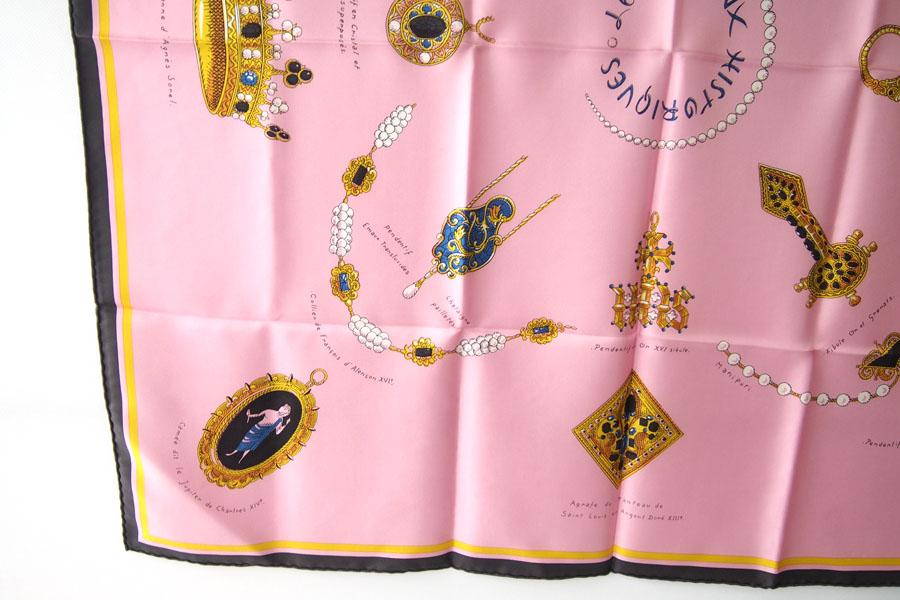 マニプリ|manipuri|プリントシルクスカーフ|BIJOUX|ピンク|88cm×88cmイメージ07