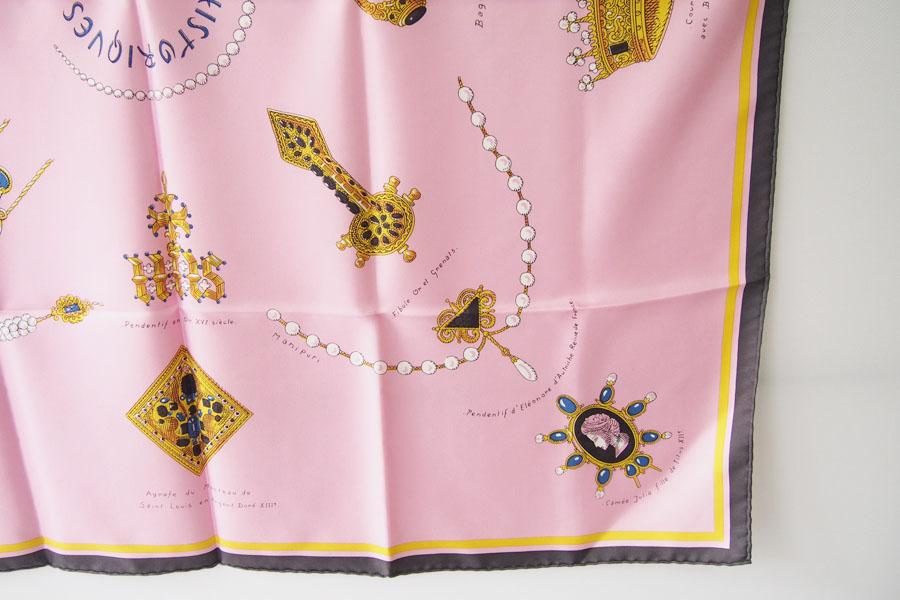 マニプリ|manipuri|プリントシルクスカーフ|BIJOUX|ピンク|88cm×88cmイメージ08