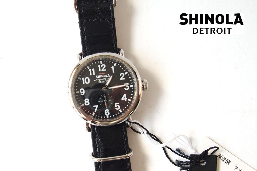 シャイノラ|shinola|時計|ランウェル|ケース径41mm|5気圧防水|クオーツ|ブラック|ウィラード・プログラム|アリゲーターレザーバンド付きイメージ01