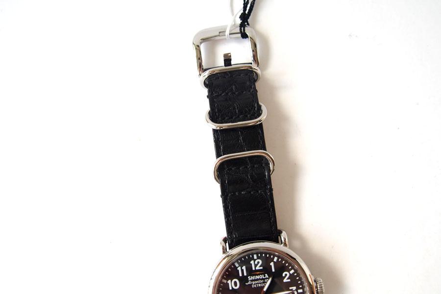 シャイノラ|shinola|時計|ランウェル|ケース径41mm|5気圧防水|クオーツ|ブラック|ウィラード・プログラム|アリゲーターレザーバンド付きイメージ02