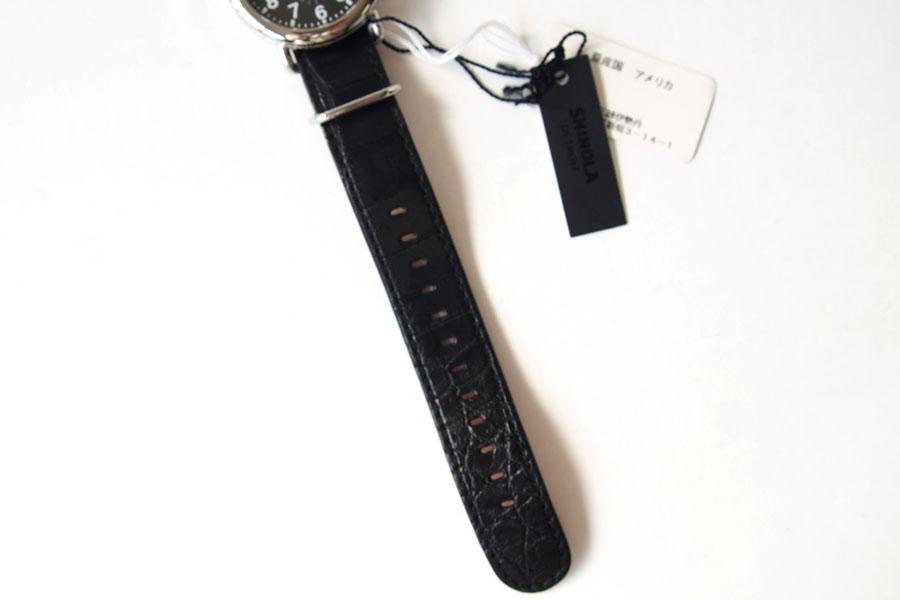 シャイノラ|shinola|時計|ランウェル|ケース径41mm|5気圧防水|クオーツ|ブラック|ウィラード・プログラム|アリゲーターレザーバンド付きイメージ03