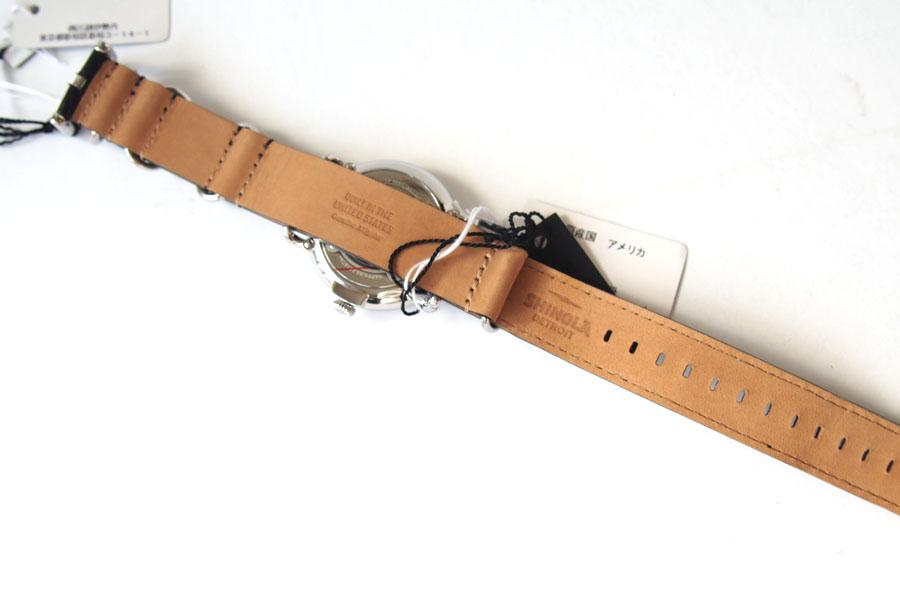 シャイノラ|shinola|時計|ランウェル|ケース径41mm|5気圧防水|クオーツ|ブラック|ウィラード・プログラム|アリゲーターレザーバンド付きイメージ04
