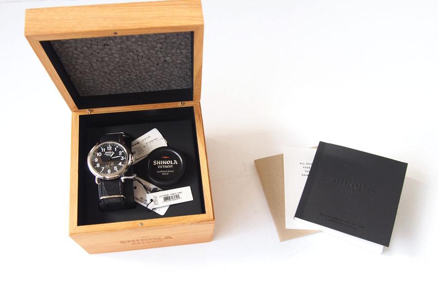 シャイノラ|shinola|時計|ランウェル|ケース径41mm|5気圧防水|クオーツ|ブラック|ウィラード・プログラム|アリゲーターレザーバンド付きイメージ05