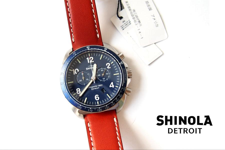 シャイノラ|shinola|時計|ランブラー|44mm径|10気圧防水|クオーツ|ネイビーイメージ01