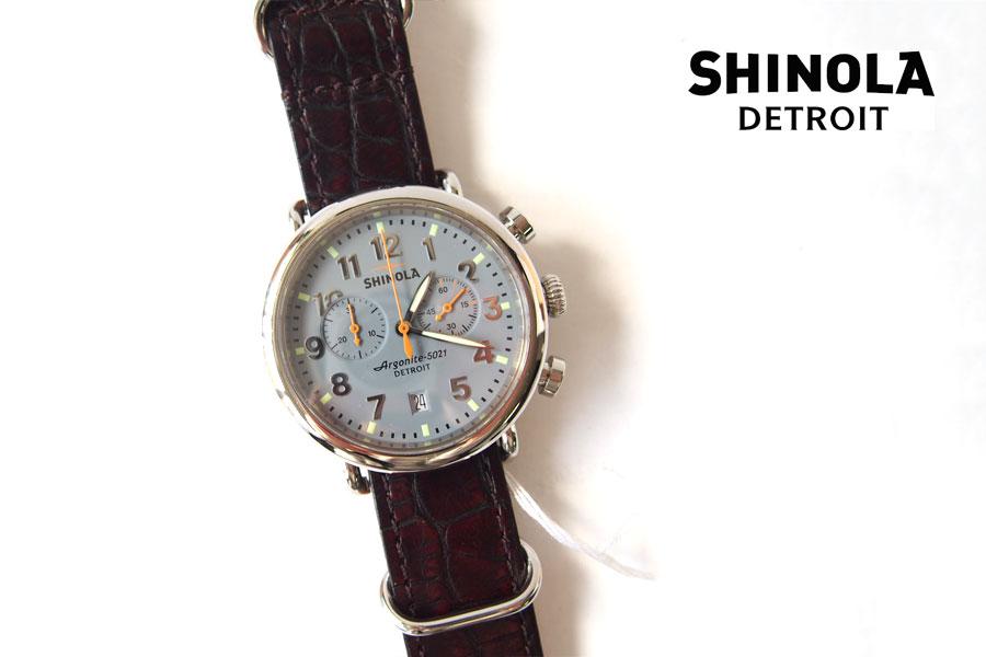 シャイノラ|shinola|時計|ランウェル|ケース径47mm|10気圧防水|クオーツ|グレイ|ウィラード・プログラム|アリゲーターレザーバンド付きイメージ01