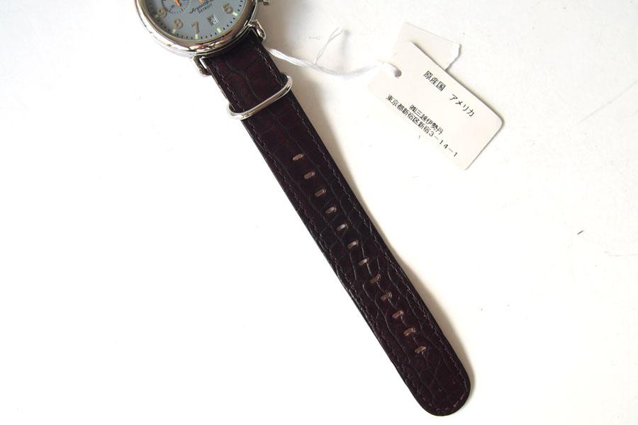 シャイノラ|shinola|時計|ランウェル|ケース径47mm|10気圧防水|クオーツ|グレイ|ウィラード・プログラム|アリゲーターレザーバンド付きイメージ03